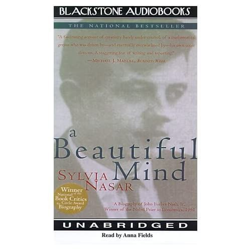 A Beautiful Mind By Nasar Sylvia Fields Anna Narrator On Audio Cassette