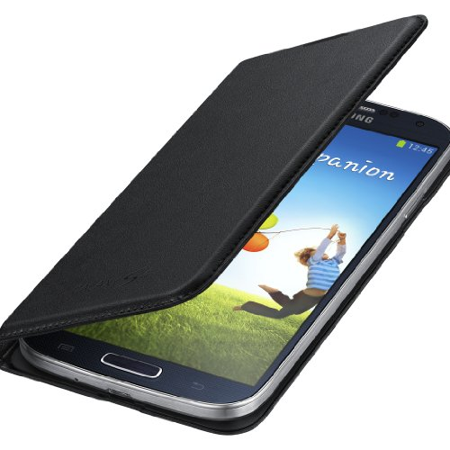 Image 2 of Samsung Wallet Flip Cover For Samsung Galaxy S4 Black Case