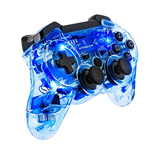 PDP Afterglow Wireless Controller For PS3 Blue For PlayStation 3 Clear 064-015TG