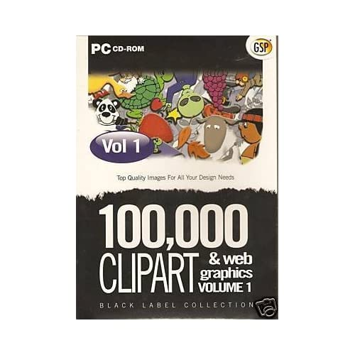 100 000 Clipart & Webgraphics Volume 1 PC UK Import Software