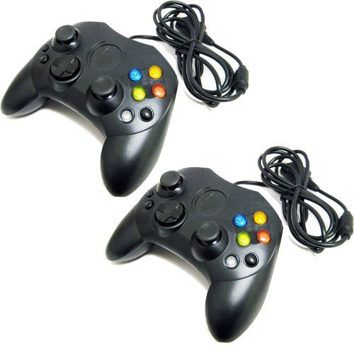 Image 0 of Lot Of Two Black Xbox Controllers Generic