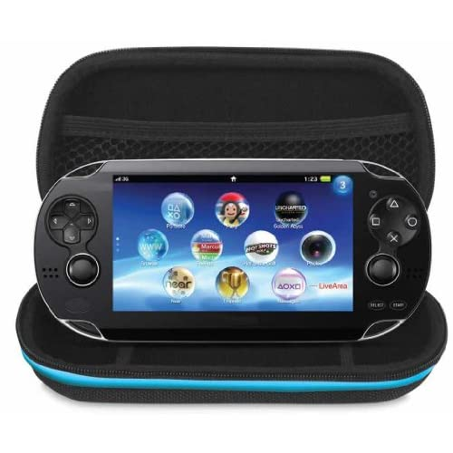 Dreamgear 4 In 1 Case Bundle For PlayStation Vita Model PCH-1000 For Ps Vita Bla