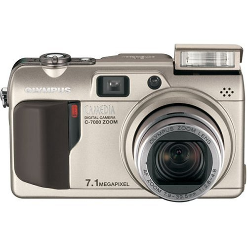 Olympus C7000 7MP Digital Camera With 5X Optical Zoom Silver Point &