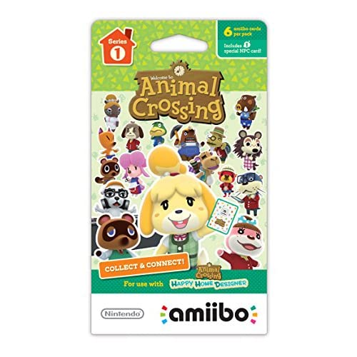 Animal Crossing Series 1 Single Pack Of 6 Cards For 3DS Figure Character