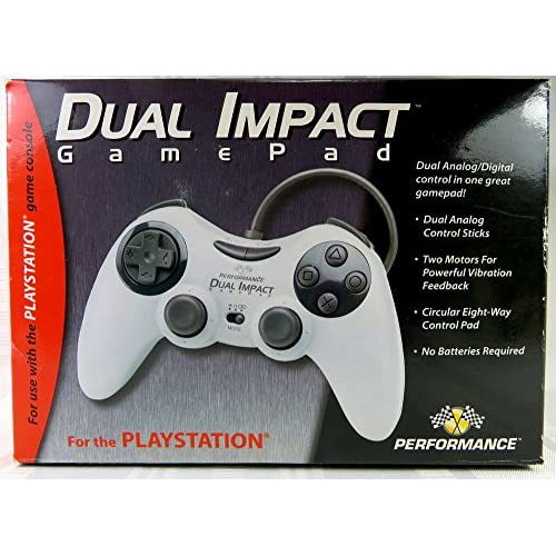 Image 0 of Dual Impact Gamepad Joypad P-113 Gray Wired Dual Analog Digital Control Stick Fo