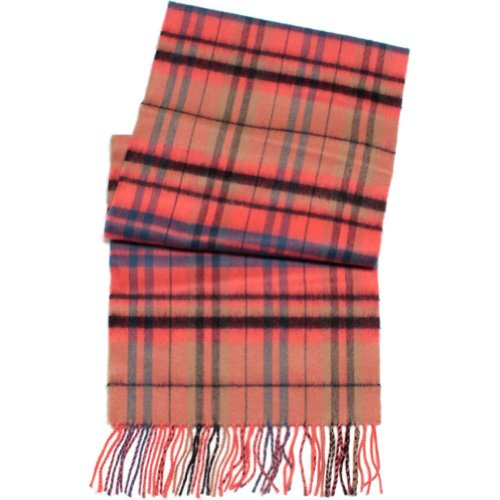 D&Y By David Young Softer Than Cashmere Scarf Plaid Pink