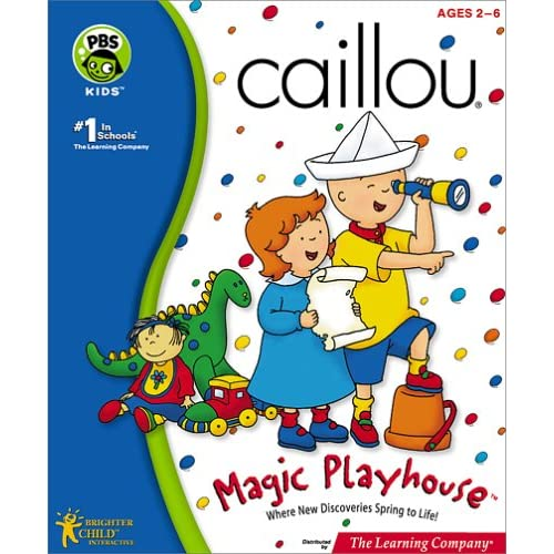 Image 0 of Caillou Magic Playhouse PC Software Children