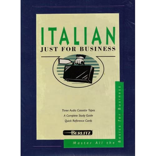 Image 0 of Berlitz Italian Just For Business Audio Cassettes On Audio Cassette