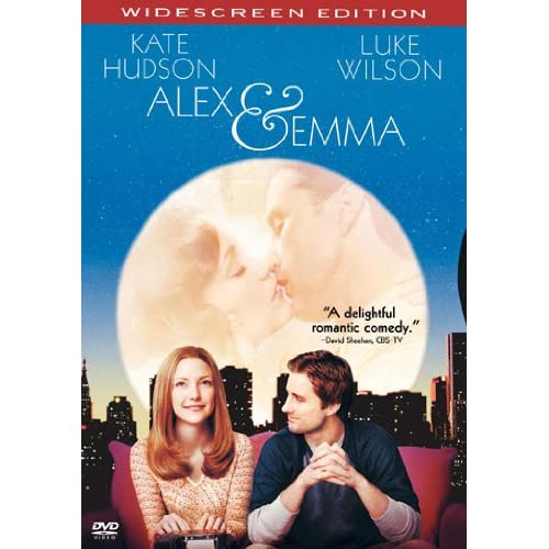 Image 0 of Alex And Emma Widescreen Edition On DVD With Kate Hudson Comedy