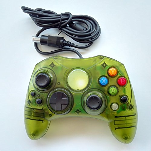 Clear Green Wired Controller For Xbox S-Type