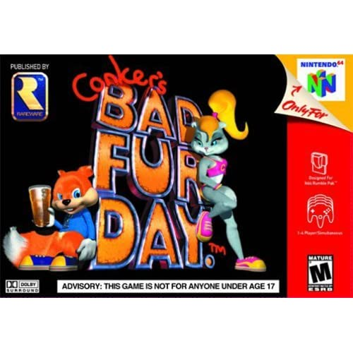 Conker's Bad Fur Day Game For N64 Nintendo Rare