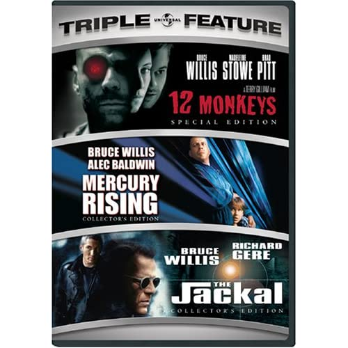 Image 0 of 12 Monkeys / Mercury Rising / The Jackal Three-Pack On DVD With Bruce Willis 3