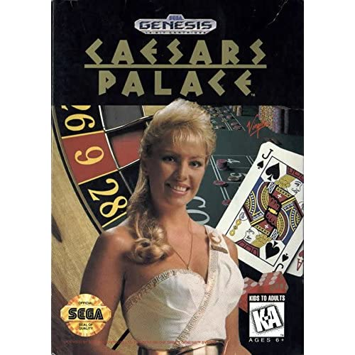 Caesars Palace For Sega Genesis Vintage With Manual and Case
