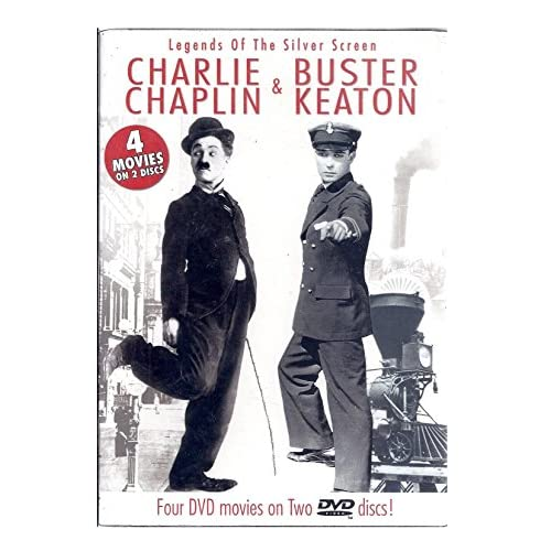 Image 0 of Charlie Chaplin And Buster Keaton: Legends Of The Silver Screen On DVD With Keat