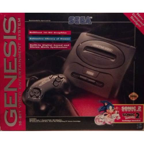 Image 0 of Sega Genesis 2 Console Sonic The Hedgehog 2 Bundle Pack