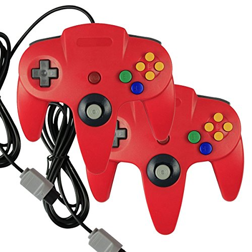 Image 0 of 2 X Game Gaming Pad Console Controllers For Nintendo 64 N64