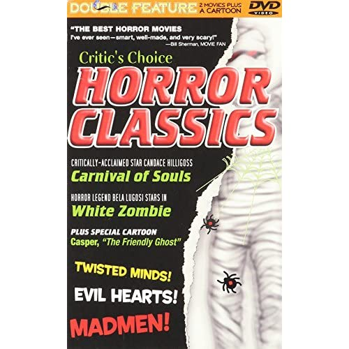 Image 0 of Classic Creepy Horror 2 Movies Carnival Of Souls / White Zombie On DVD