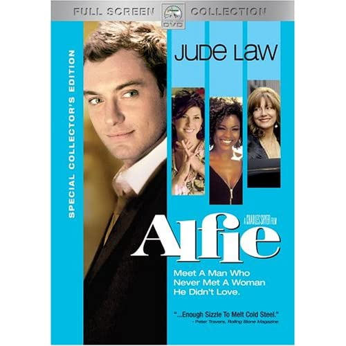 Alfie Full Screen Edition On DVD With Jude Law Comedy