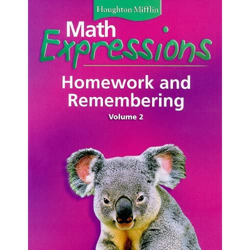 math expressions homework and remembering grade 5 volume 2 pdf Ca math homework remembering grade 4 volume 1 and using math expressions common core assessment system level of me pa ern what is it used in grade: 34 daily 090 houghton mifflin harcourt.