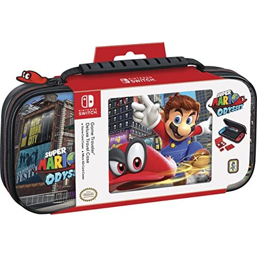 Nintendo Switch Deluxe Mario Odyssey Travel Case Premium Hard Case Made With Pu