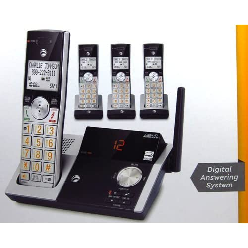 Image 0 of AT&T Cordless 4 Handset DECT 6.0 Digital Answering System With Caller ID Call Wa
