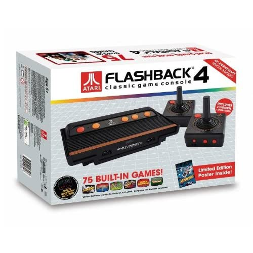 At Games Atari Flashback 4 Classic Game Console Black Home