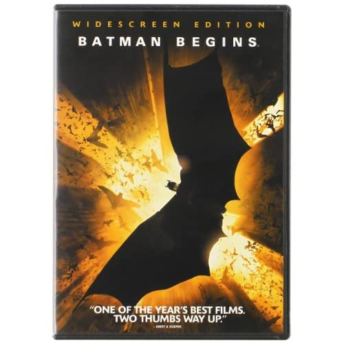 Image 0 of Batman Begins Single-Disc Widescreen Edition On DVD With Christian Bale Action