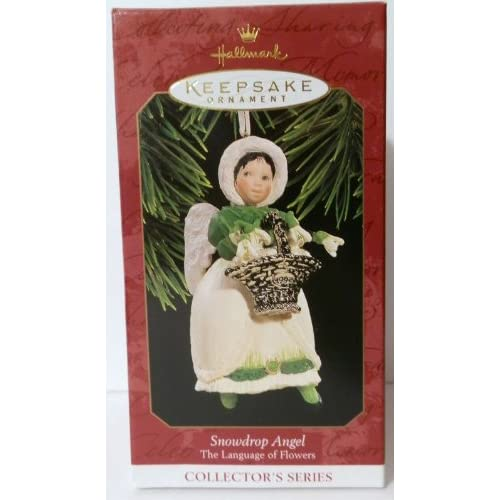 1997 hallmark ornament snowdrop angel 2 the language of Hallmark flowers