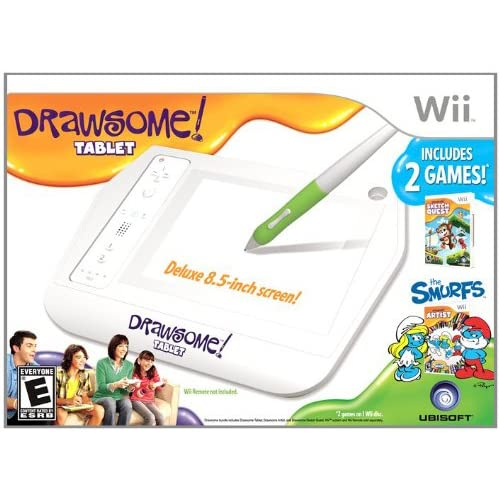 Image 0 of Drawsome Tablet Nintendo Wii White Gamepad