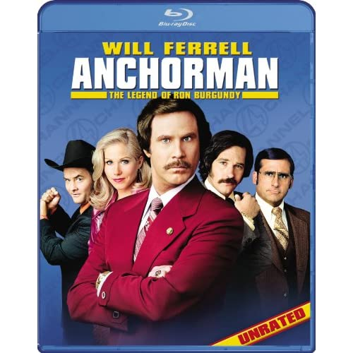 Image 0 of Anchorman: The Legend Of Ron Burgundy Unrated Blu-Ray On Blu-Ray With Will Ferre