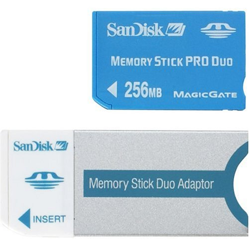 Image 0 of SanDisk 256 MB Memorystick Pro Duo SDMSPD-256-A10 For PlayStation 1 PS1 Memory C