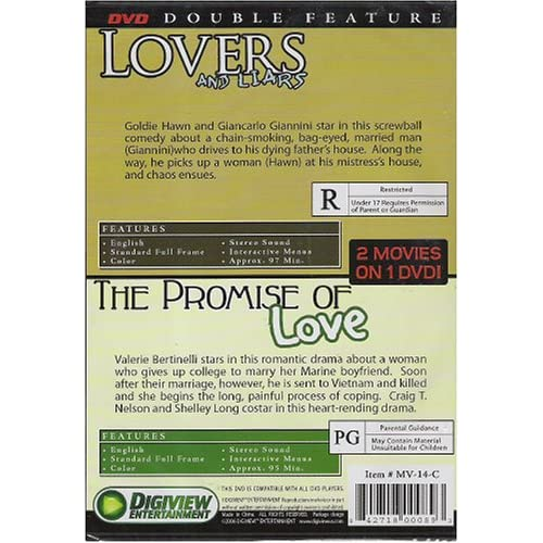 Image 3 of Double Feature Lovers And Liars / The Promise Of Love On DVD Drama
