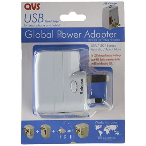 Image 0 of QVS PA-C2 World Power Travel AC Adapter Kit With USB And Surge Protection Wall C