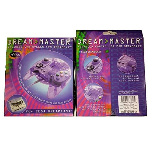 Image 0 of Dreamcast Controll Purple Dream Master Advanced Dreamcast Controller For Sega Dr
