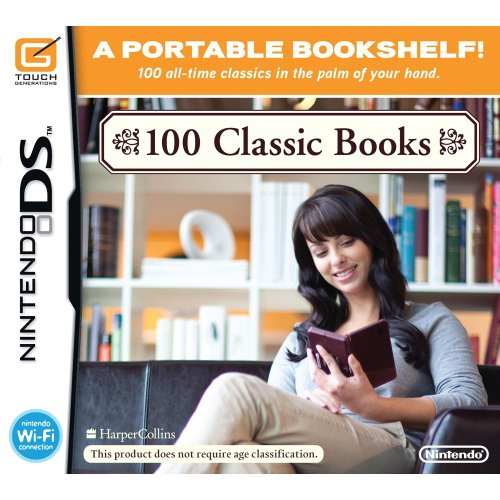 100 Classic Books For Nintendo DS DSi 3DS 2DS With Manual and Case