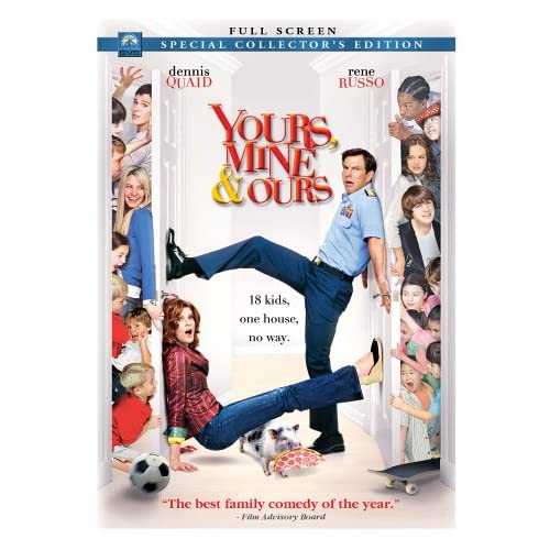 Image 0 of Yours Mine & Ours Full Screen Edition On DVD with Dennis Quaid