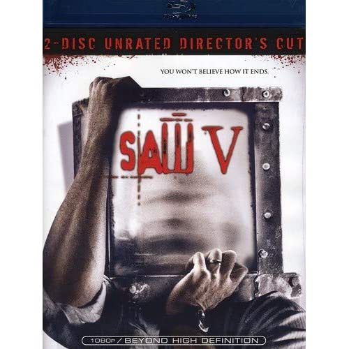 Image 0 of Saw V 2 Disc Director's Cut Blu-Ray On Blu-Ray With Scott Patterson Horror