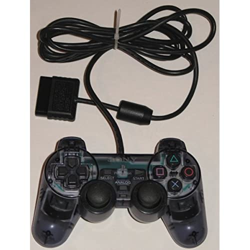 Image 0 of Sony Dualshock Controller For PlayStation 2 PS2 SCPH-10010 Clear Gray Grey Gamep
