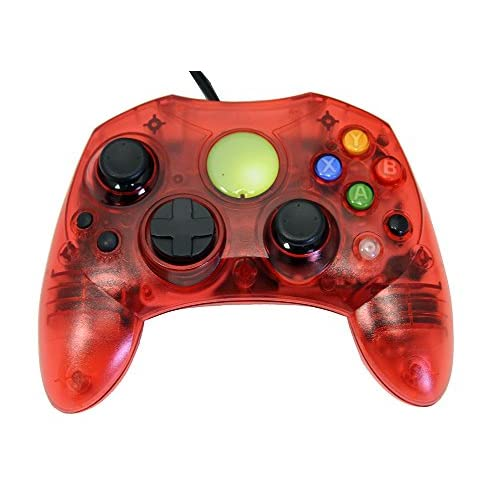 Image 0 of Replacement Controller For Xbox Original Red Transparent By Mars Devices