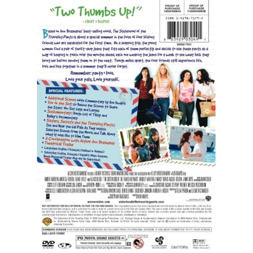 Image 3 of The Sisterhood Of The Traveling Pants On DVD with Amber Tamblyn
