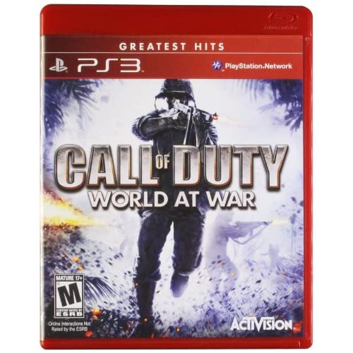 Call Of Duty: World At War Greatest Hits For PlayStation 3 PS3 COD Shooter