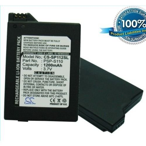 Image 0 of 1200MAH PSP-S110 Battery Sony PlayStation Silm PSP-3000 PSP-3004 By