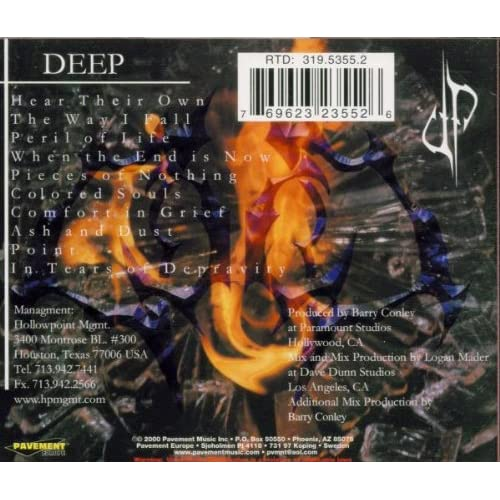 Image 2 of Pieces Of Nothing By Deep On Audio CD Album 2000