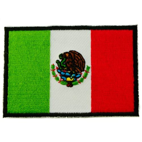 Flag of mexico iron or sew on embroidered patch d