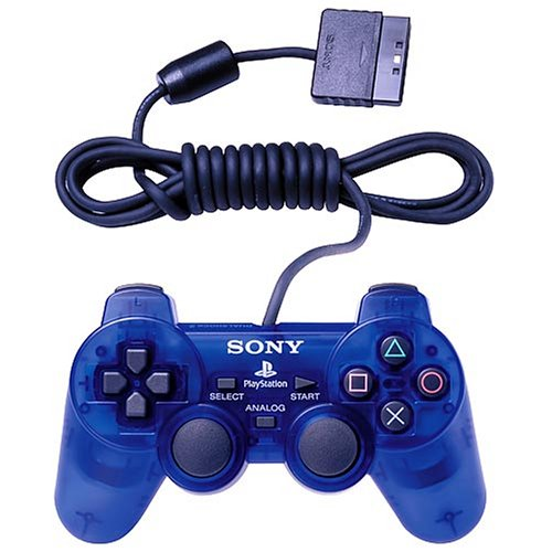 Image 0 of Sony OEM PS2 Dualshock Controller Ocean Blue For PlayStation 2