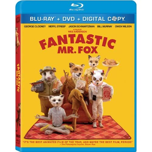 Fantastic Mr Fox Three-Disc Blu-Ray/dvd Combo On Blu-Ray With George Clooney 3
