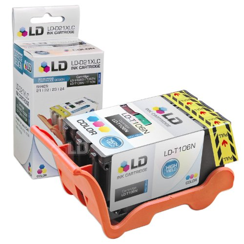 For 23 High Yield Color Ink Cartridge For Dell T106N For The V515W Tri