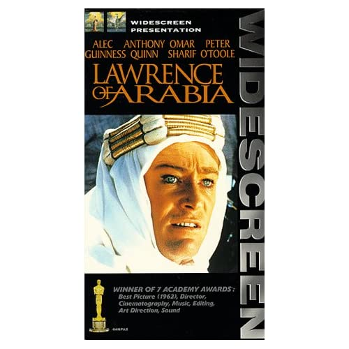 Lawrence Of Arabia Widescreen Edition On VHS With Peter O'Toole