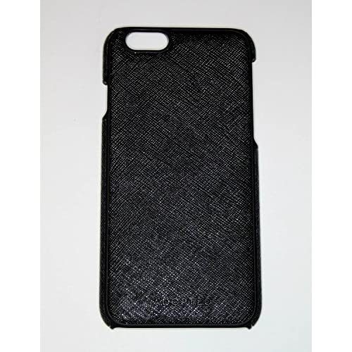 Adopted Leather Saffiano Black Case For iPhone 6 6S Cover Fitted