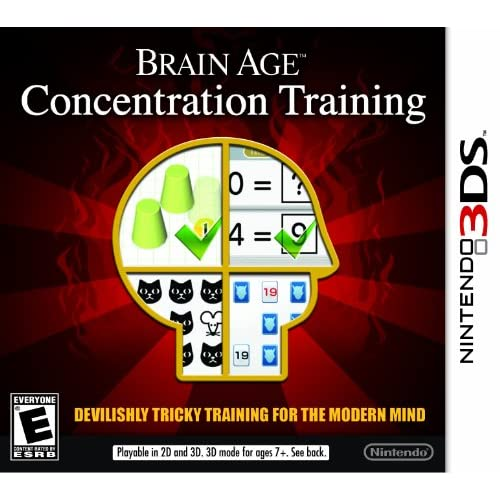Brain Age: Concentration Training Nintendo For 3DS Puzzle With Manual and Case